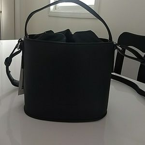 Black bucket purse new